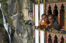 Bhutan-junge Novizen