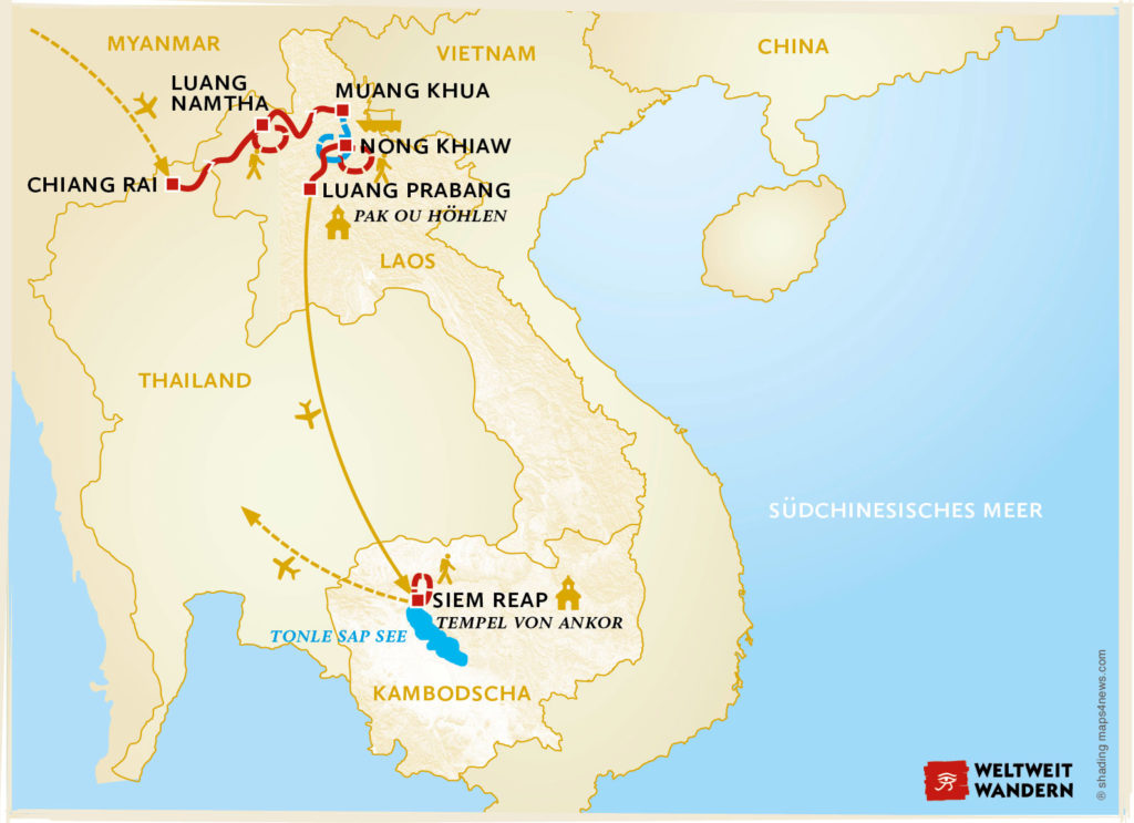 Malaria Kambodscha Karte.Dschungelabenteuer Laos Weltwunder Angkor
