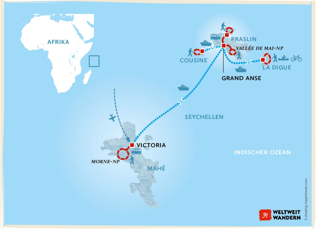 Seychellen Karte Afrika.Inselhopping Im Tropischen Archipel